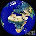 Earth From Space Europe And Africa by Dragica  Micki Fortuna