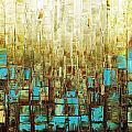 Abstract Geometric Mid Century Modern Art by Susanna Shap