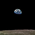 Earth Over Moon Apollo 8 by Chad Rowe