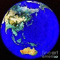 Earth Seen From Space Australia And Azia by Dragica  Micki Fortuna