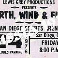 Earth Wind Fire San Diego Sports Arena Ticket September 24 1976 by Jussta Jussta