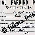 Earth Wind Fire Seattle Parking Permit by Jussta Jussta