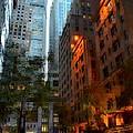 East 44th Street - Rhapsody In Blue And Orange by Miriam Danar