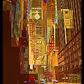 East 45th Street - New York City by Miriam Danar