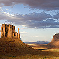 East And West Mittens Monument Valley by Tom Vezo