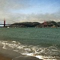 East Beach And Golden Gate by Michelle Calkins