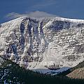 1m3743-east Face Mt. Kitchener With Cloud by Ed  Cooper Photography
