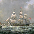 East Indiaman Hcs Thomas Coutts Off The Needles     Isle Of Wight by Richard Willis