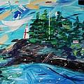 Campobello Lighthouse Abstract by Nancy Milano