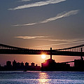 East River Sunrise - New York City by Bill Cannon