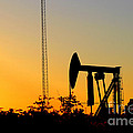 East Texas Pumpjack At Sunset by Kathy  White