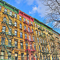 East Village Buildings On East Fourth Street And Bowery by Randy Aveille