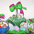 Easter Baskets In A Row  by Nancy Patterson