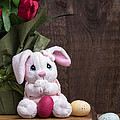Easter Bunny Card by Edward Fielding
