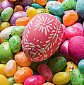 Easter Egg And Jellybeans  by Garry Gay