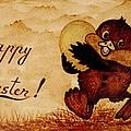 Easter Golden Egg Coffee Painting by Georgeta  Blanaru