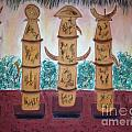 Easter Island Poles by Judy Gerstner