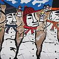 Easter Island Snow Men by Jeffrey Koss