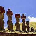 Easter Island Statues  by David Smith