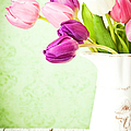 Easter Tulips And Copy Space by Catlane