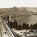 Eastern Span Of San Francisco-  Oakland Bay Bridge Circa 1937 by California Views Archives Mr Pat Hathaway Archives