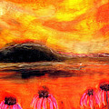 Echinacea Sunset by FeatherStone Studio Julie A Miller