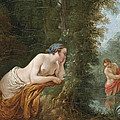 Echo And Narcissus by Louis-Jean-Francois Lagrenee