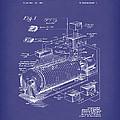 Eckdahl Computer 1960 Patent Art Blue by Prior Art Design