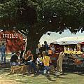 Eckert's Market Under Big Tree by Don  Langeneckert