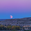 Eclipse Moonrise At Writing-on-stone by Alan Dyer
