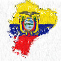 Ecuador Painted Flag Map by Antony McAulay