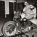 Eddie Davenport Of Tulare California On A Motorcycle Hollister  July 7 1947 by California Views Mr Pat Hathaway Archives