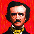 Edgar Allan Poe - Painterly - Square by Wingsdomain Art and Photography