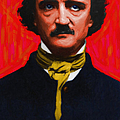 Edgar Allan Poe - Painterly by Wingsdomain Art and Photography