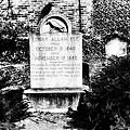 Edgar Allen Poe Grave Site Baltimore by Bill Cannon
