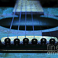 Edgy Abstract Eclectic Guitar 17 by Andee Design