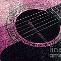 Edgy Guitar Pink 2  by Andee Design