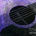 Edgy Guitar Purple 2 by Andee Design