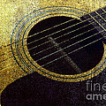 Edgy Guitar Yellow 2 by Andee Design