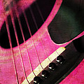 Edgy Pink Guitar  by Andee Design