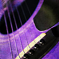 Edgy Purple Guitar  by Andee Design
