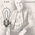 Edison And Electric Lamp Patent by Daniel Hagerman