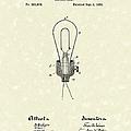 Edison Electric Lamp 1882 Patent Art by Prior Art Design