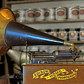 Edison Home Phonograph With Morning Glory Horn by Christine Till