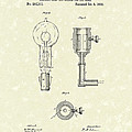 Edison Lamp 1882 Patent Art by Prior Art Design