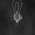 Edison Light Bulb Patent Art Chalkboard by Edward Fielding
