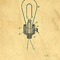Edison Light Bulb Patent Art by Edward Fielding