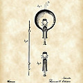 Edison Light Bulb Patent 1880 - Vintage by Stephen Younts