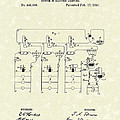 Edison Lighting System 1891 Patent Art by Prior Art Design