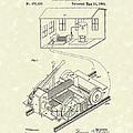 Edison Locomotive 1892 Patent Art by Prior Art Design